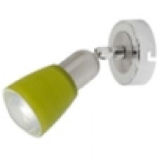 504021101 Мона хром/зеленый 1*40W Е14 220 V спот