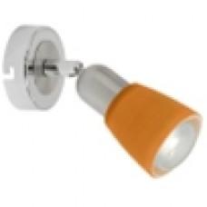 504021601 Мона хром/оранжевый 1*40W Е14 220 V спот